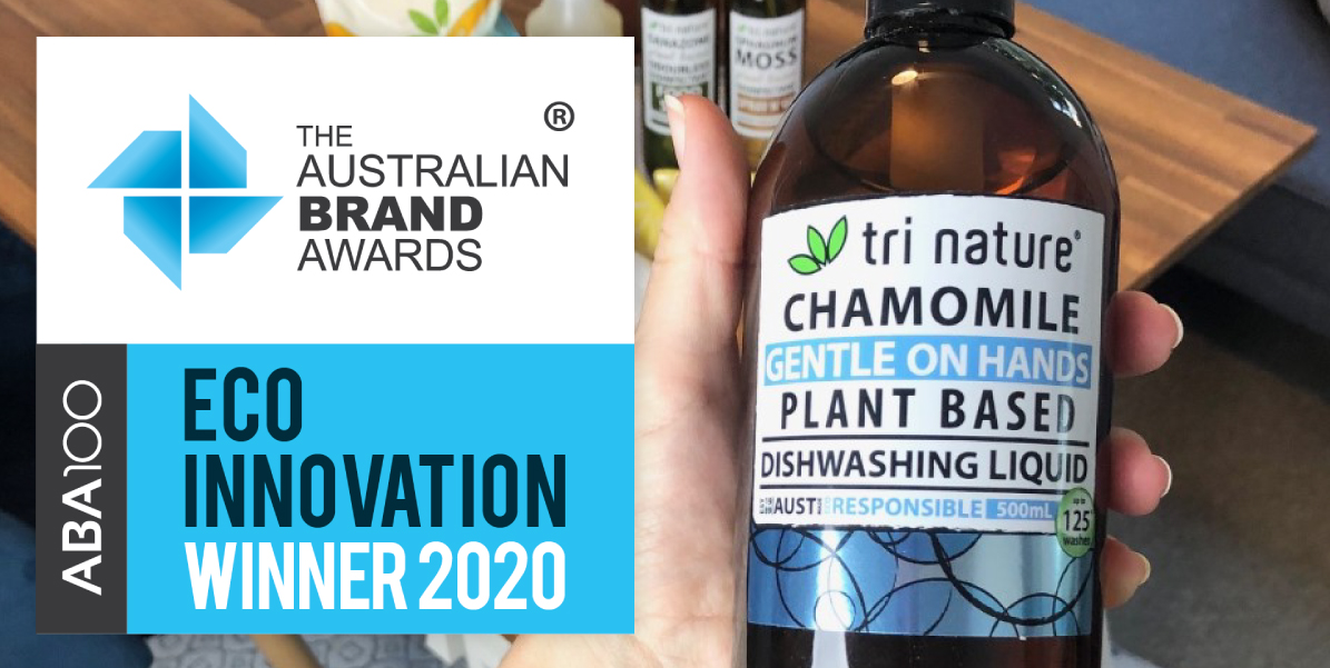 Tri Nature's Chamomile Dishwashing liquid is an ABA100 winner for eco-innovation