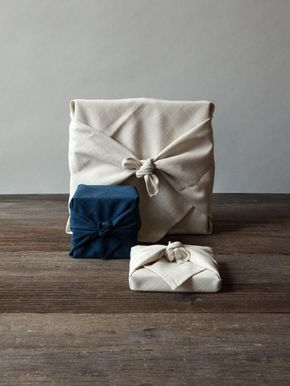 Eco-friendly Christmas gift wrapping in fabric wraps